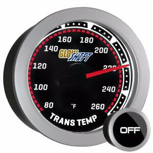 52mm Tinted Glowshift Transmission Temperature Gauge W Sensor Gs T12