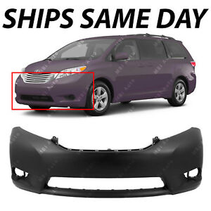 New Primered Front Bumper Fascia Replacement For 2011 2017 Toyota Sienna 11 17