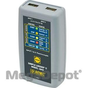 Aemc 2126 08 Simple Logger Ii L642 Temp Thermocouple Data Logger