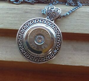 Bullet Casing Necklace Handmade Winchester 300