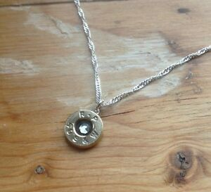 Small Bullet Casing Necklace 40 Cal Smith & Wesson