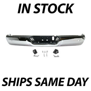 New Chrome Rear Bumper Assembly For 2013 2018 Ram 2500 3500 Pickup W Park Holes