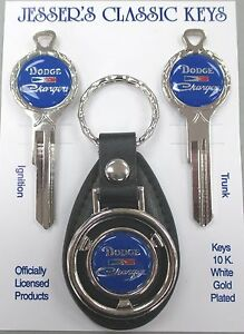 Blue Dodge Charger Deluxe Classic White Gold Keys Set 1970 1971 1972 1973 1974