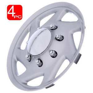 16 Hub Caps For Ford Truck Econoline Van Chrome Center Silver Trim Wheel Covers