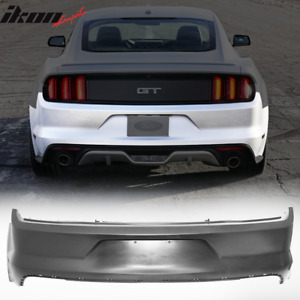 Fits 2015 2017 Ford Mustang Rear Bumper Conversion Cover Oe Material Pp