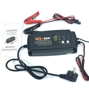 Waterproof 12v 2a 4a 8a Smart Car Battery Charger 7 stage Maintainer