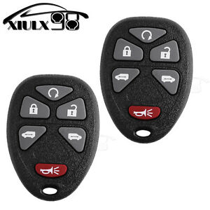 2 Keyless Entry Remote Key Fob Transmitter Dual Power Fit 15114376 Kobgt04a Us