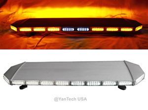 47 Amber 132 Led Light Bar Beacon Warning Strobe Tow Truck Plow Police Fire Ems