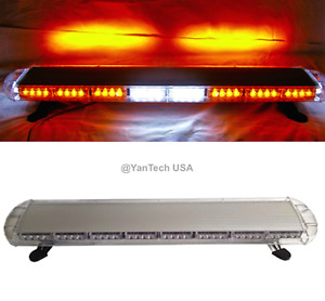 44 72 Led Amber Light Bar Emergency Beacon Warn Tow Truck Plow Wrecker Strobe