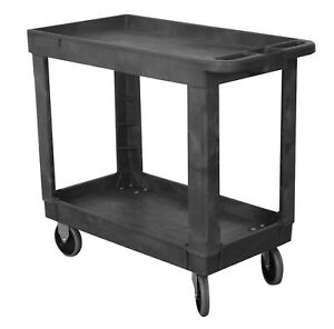 Wesco Industrial Products 270494 Plastic Service Cart 330 Lb Capacity 17 25