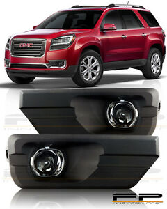 13 14 15 16 Gmc Acadia Clear Fog Light Lamps Full Complete Kit Switch harness