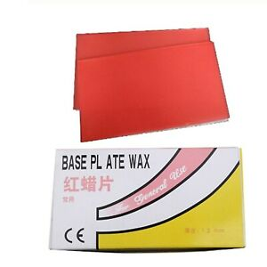3boxes Denture Red Wax Base Plate 1 3mm Thermo stable Red Wax Sheet In Lab