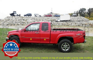 2010 2012 Chevy Colorado Canyon Extended Cab Body Side Molding Overlay Trim 1
