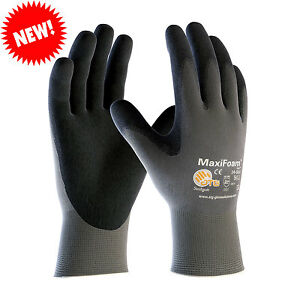 Maxifoam Lite 34 900 3 Pack 12 Pair Pack Nitrile Grip Gloves Sizes Xs xxl