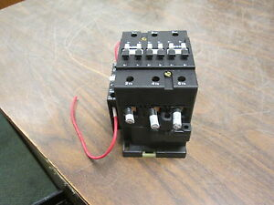 Abb Contactor B50 120v Coil 65a 600v W Aux Contact Used