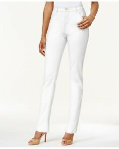 Lee Platinum Petite Classic-Fit White Color Wash Straight Leg Jeans Size 12P 14P