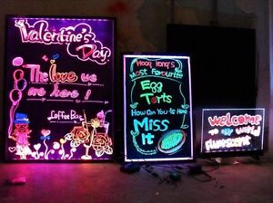 32x24 Flashing Illuminated Erasable Neon Led Message Menu Sign Writing Board Oy