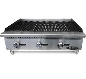36 Char Broiler Grill 3 Burner Charbroiler Radiant Natural Lp New 3 Charcoal