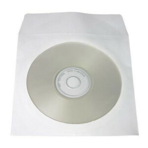 Yens 100 Paper Cd Dvd R Cdr Sleeve Window Flap Envelope White