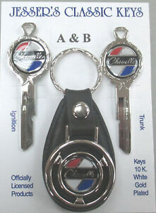 Chevrolet Chevelle Deluxe Classic White Gold Key Set Chevy 1967 1971 1975 1979