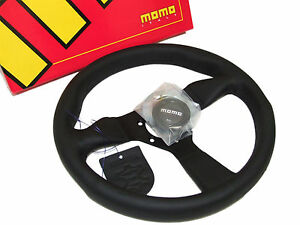 Momo Steering Wheel Monte Carlo 320mm Leather Black Spoke