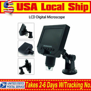 Lcd 1 600x 4 3 Hd 3 6mp Digital Microscope Magnification Video Camera Magnifier
