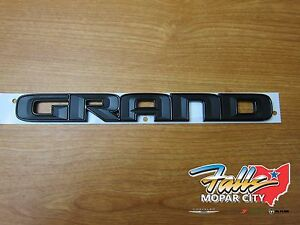 2017 Jeep Grand Cherokee Stick On Grand Emblem Mopar Oem