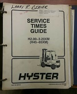 Hyster Forklift Manual H2 00 3 20xm 897515