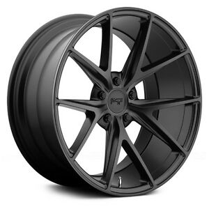 17 Niche Misano M117 Black Wheels Rims 5x120 Bmw 3 Series E46 E90 E92 F30