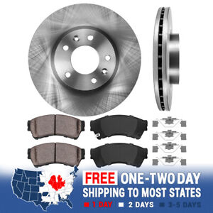 Front Brake Rotors And Ceramic Pads For Ford Fusion Mkz Zephyr Mazda 6 Milan