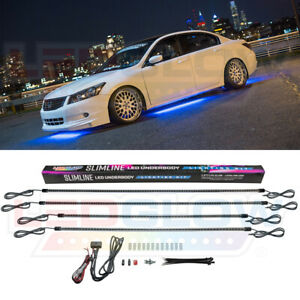 Ledglow Blue Led Underbody Underglow Under Car Neon Light Kit W 4 Tubes 300 Leds