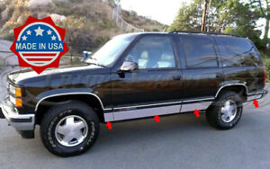 1995 1999 Chevy Tahoe 4dr Rocker Panel Trim Side Molding 6 25 N flare 8pc