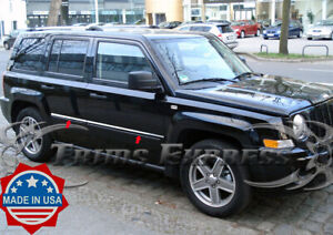 Fit 2007 2017 Jeep Patriot 4pc Flat Stainless Steel Body Side Molding Trim 1
