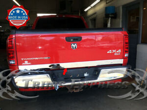 Fits 2002 08 Dodge Ram 1500 2500 Tailgate Trim Stainless Steel Molding Cover