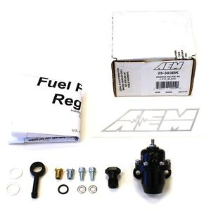 Aem Billet Fuel Pressure Regulator Fpr For 88 91 Honda Crx Si Civic 25 303bk