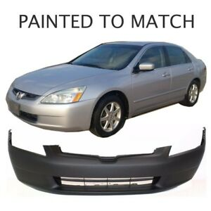 Painted To Match Fits 2003 2004 2005 Honda Accord Sedan Front Bumper