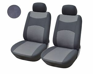 A160 Grey Fabric 2 Front Bucket Car Seat Covers Compatible To Toyota Camry