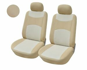 A160 Tan Fabric 2 Front Bucket Car Seat Covers Compatible To Toyota Camry