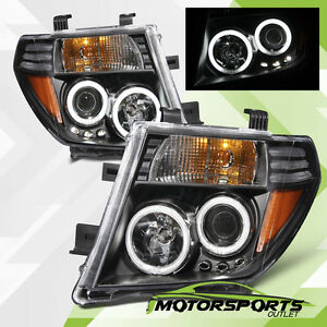 Dual Ccfl Halo For 05 08 Nissan Frontier Pathfinder Led Projector Headlights