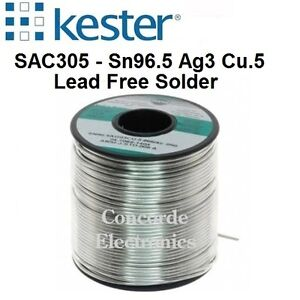 Kester Lead Free Solder 24 7068 7601 Sac305 275 no clean Flux 031 2