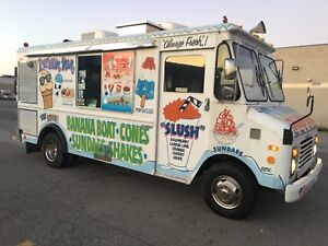 Soft Serve Ice Cream Truck Slush Ice Cream Truck