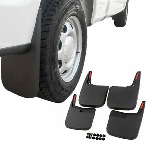 Fits 15 20 Ford F 150 W O Flares Trim Mud Flaps Guards Splash Molded 4 Piece Set