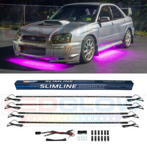 New 4pc Ledglow Pink Slimline Led Neon Underbody Under Glow Car Lights Kit