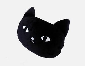 New Cute Black Cat Neck Pillow Head Rest Car Travel X1