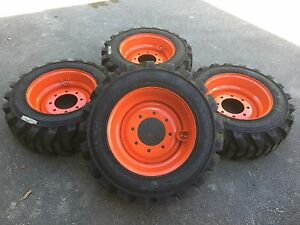 10 16 5 Galaxy Beefy Baby Iii Skid Steer Tires wheels rims For Bobcat 10x16 5