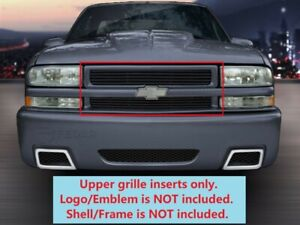 Black Upper Billet Grille For 98 99 2000 01 02 03 04 05 Chevy Blazer s10