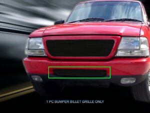 Black Lower Bumper Billet Grille Insert For 1998 1999 2000 Ford Ranger