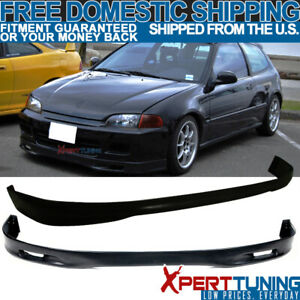 Fits 1992 1995 Honda Civic Eg 3dr Urethane Sp Front Rear Bumper Lip Bodykit