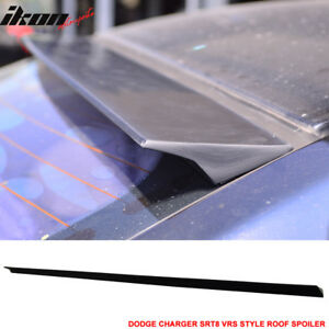 Fits 11 16 Dodge Charger Srt8 2nd Vrs Style Roof Spoiler Unpainted Black Puf