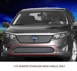 Lower Bumper Wire Mesh Grille For 2010 2011 2012 Ford Fusion